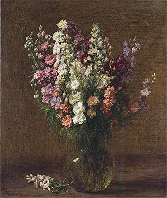 Larkspur, 1887 | Fantin-Latour | Painting Reproduction