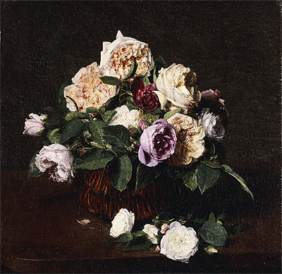 Vase of Flowers, 1876 | Fantin-Latour | Painting Reproduction