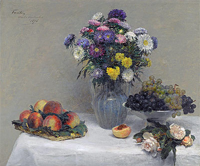 Flowers and Fruits, 1876   Fantin-Latour   Painting Reproduction