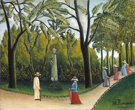 Henri Rousseau   The Monument to Chopin in the Luxembourg Gardens, 1909   Giclée Canvas Print