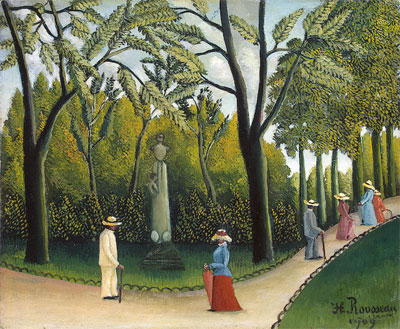 The Monument to Chopin in the Luxembourg Gardens, 1909 | Henri Rousseau | Giclée Canvas Print