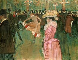 Toulouse-Lautrec | At the Moulin Rouge, The Dance, 1890 | Giclée Canvas Print