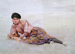 Tuke | Girl on the Beach | Giclée Canvas Print