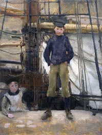 Tuke | Two Children on Deck | Giclée Canvas Print