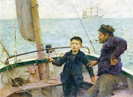 Tuke | The Steering Lesson | Giclée Canvas Print