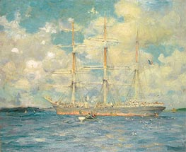 Tuke | A French Barque in Falmouth Bay | Giclée Paper Print