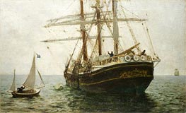 Tuke | The Missionary Boat | Giclée Canvas Print