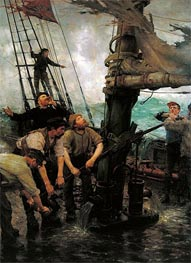 Tuke | All Hands to the Pumps | Giclée Canvas Print