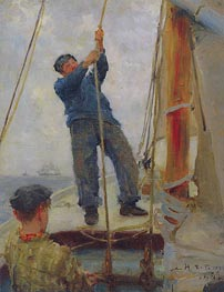 Tuke | Hoisting the Mainsail | Giclée Canvas Print
