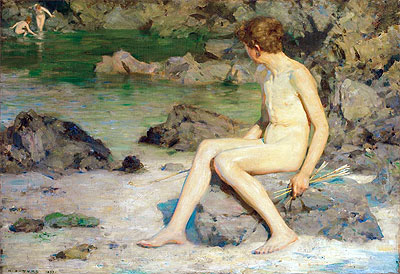 Cupid and the Sea Nymphs, 1899 | Tuke | Giclée Canvas Print