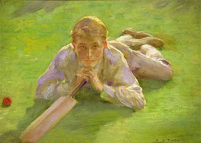 Henry Allen in Cricketing Whites, undated | Tuke | Painting Reproduction