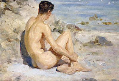 Boy on a Beach, 1912 | Tuke | Painting Reproduction