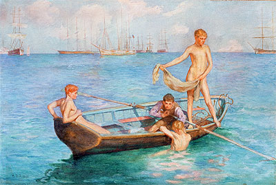 August Blue, 1896 | Tuke | Painting Reproduction