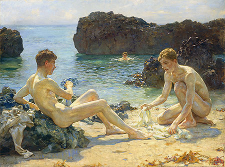 The Sun Bathers, 1927 | Tuke | Giclée Canvas Print
