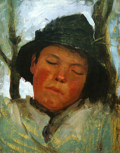 Boy in a Sou'wester, c.1882 | Tuke | Giclée Canvas Print