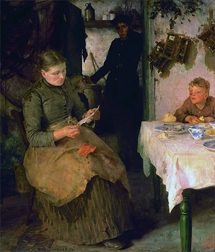 The Message, 1890 | Tuke | Painting Reproduction