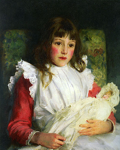 Portrait of Molly Dalrymple, 1891 | Tuke | Giclée Canvas Print