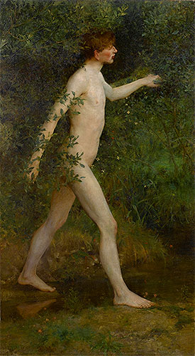 A Woodland Bather, 1893 | Tuke | Giclée Canvas Print