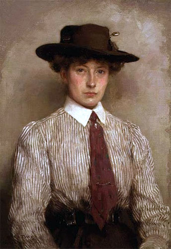 Portrait of Ida Hamilton, 1909 | Tuke | Giclée Canvas Print
