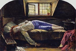 Henry Wallis | The Death of Chatterton, 1856 | Giclée Canvas Print