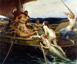 Herbert James Draper | Ulysses and the Sirens, 1909 | Giclée Canvas Print