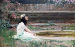Herbert James Draper | A Young Girl by a Pool, undated | Giclée Canvas Print