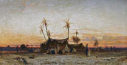 Hermann David Salomon Corrodi | An Arab Encampment at Sunset, undated | Giclée Canvas Print