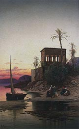 Hermann David Salomon Corrodi | The Kiosk of Trajan, Philae on the Nile | Giclée Canvas Print