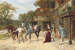 Heywood Hardy | After the Morning Gallop | Giclée Canvas Print