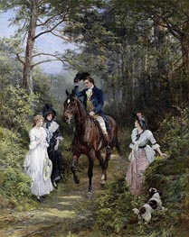 Heywood Hardy | The Meeting in the Forest | Giclée Canvas Print