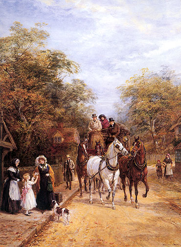 A Departing Gift, undated | Heywood Hardy | Painting Reproduction