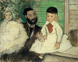 Degas | Ludovic Lepic and His Daughters | Giclée Canvas Print