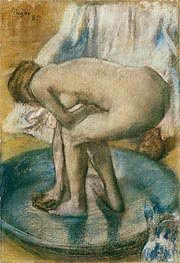 Degas | Woman Bathing in a Shallow Tub | Giclée Canvas Print