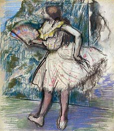 Degas | Dancer with a Fan | Giclée Canvas Print