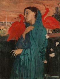 Degas | Young Woman with Ibis | Giclée Canvas Print