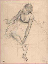Degas | Dancer Adjusting Her Slipper | Giclée Paper Print