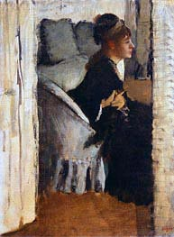 Degas | Woman Putting on Gloves, undated | Giclée Canvas Print