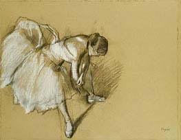 Degas | Dancer Adjusting her Shoe | Giclée Canvas Print