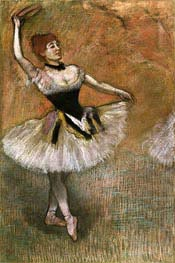Degas | Dancer with Tambourine | Giclée Canvas Print
