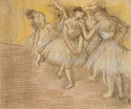 Degas | Five Dancers on Stage | Giclée Paper Print