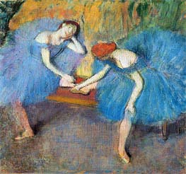 Degas | Two Dancers at Rest (Dancers in Blue), c.1898 | Giclée Paper Print