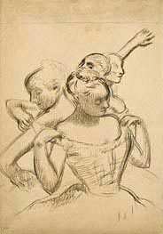Degas | Group of Four Dancers | Giclée Paper Print