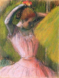 Degas | Dancer Arranging Her Hair, c.1900/12 | Giclée Paper Print