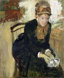 Degas | Portrait of Mary Cassatt, c.1880/84 | Giclée Canvas Print