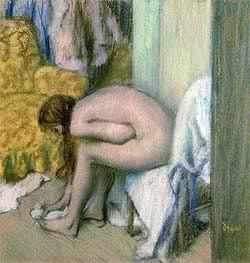 Degas | After the Bath, Woman Drying her Left Foot, 1886 | Giclée Paper Print