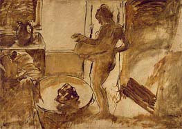 Degas | Woman Drying Herself, c.1884/86 | Giclée Canvas Print