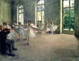 Degas | The Rehearsal, c.1873/78 | Giclée Canvas Print