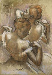 Degas | Two Dancers Adjusting their Shoulder Straps | Giclée Canvas Print