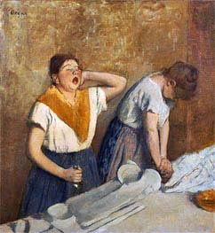 Degas | The Laundresses (The Ironing), c.1874/76 | Giclée Canvas Print