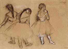 Degas | Three Dancers | Giclée Canvas Print